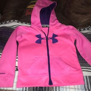Girls Under Armour Dri fit hooded sweatshirt